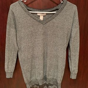 Banana Republic grey V neck Sweater